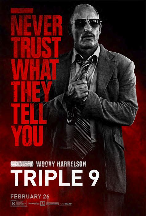 woody harrelson recent films triple 9 woody harrelson poster hollywood news source