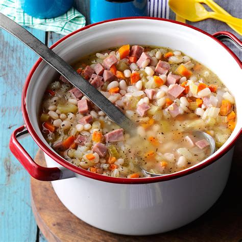 cfire bean n ham soup recipe taste of home