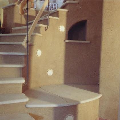 treppengeländer rund gemauert design treppe