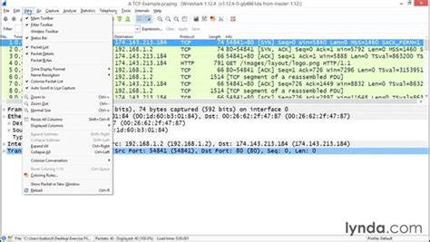 Wireshark Tutorial Lynda | exploring the wireshark interface