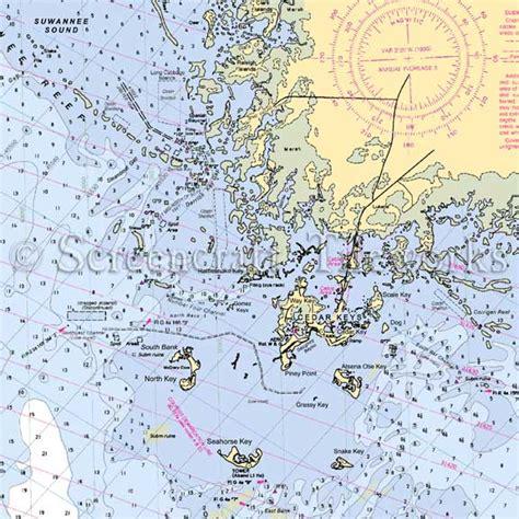 Decorative Kitchen Islands by Florida Cedar Keys Nautical Chart Decor