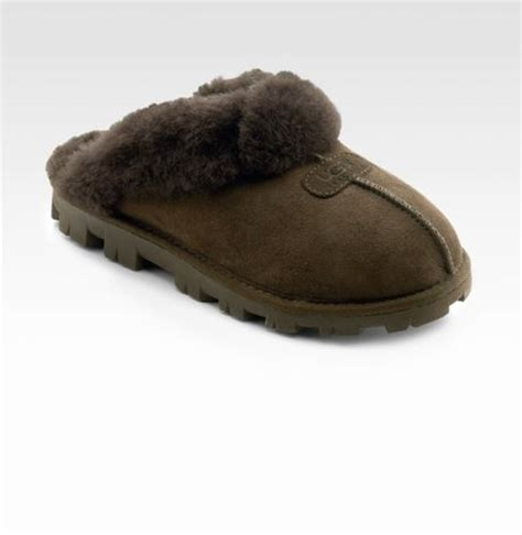 uggs coquette slippers ugg coquette sheepskin slippers in brown chocolate lyst