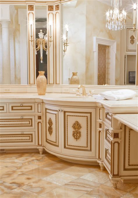 Fancy Bathroom Cabinets by Fancy White Gilded Bathroom Vanity