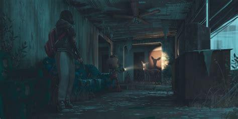 wallpaper apocalypse abandoned building deer robot