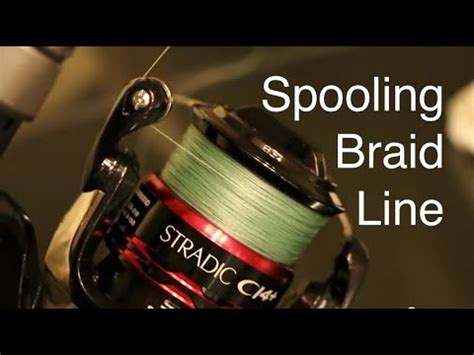 Redknot Revo T1910 3 how to spool braided line on a spinning reel