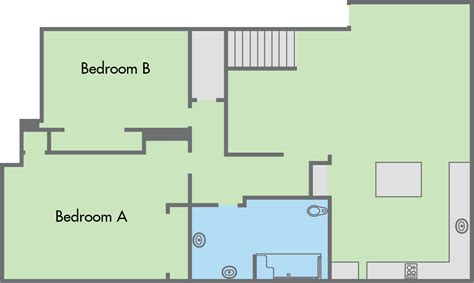 4 bedroom townhouse floor plans the colleges floor plan 4 bedroom 2 bathroom townhouse