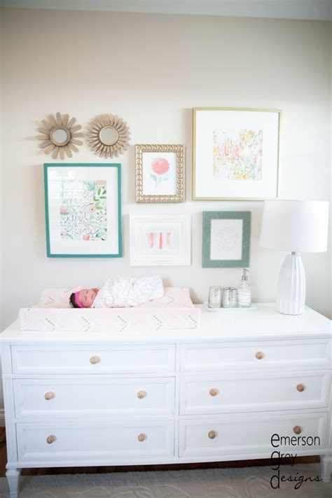 mirror over dresser ideas furniture creative nursery organization ideas nursery