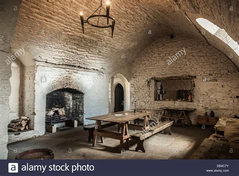 history in the making a showpiece kitchen castle design a dining room kitchen inside a medieval castle stock photo