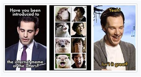 Cumberbatch Meme - benedict cumberbatch and the internet otter meme bbc sherlock pinterest