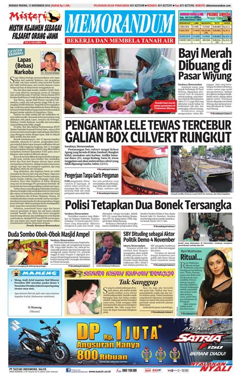 memorandum edisi 13 november 2016 by memorandum issuu