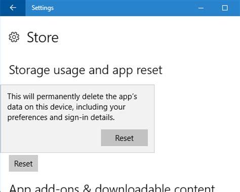 resetting windows store how to reset windows 10 store