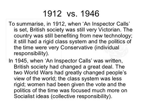 themes in an inspector calls responsibility an inspector calls revision