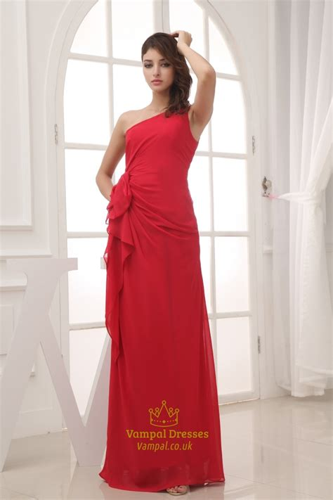 One Shoulder Ruffle Chiffon Dress chiffon one shoulder ruffle dress one