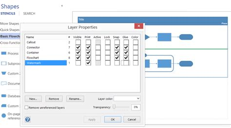visio lock shape using layers for visibility printing and color in visio 2013
