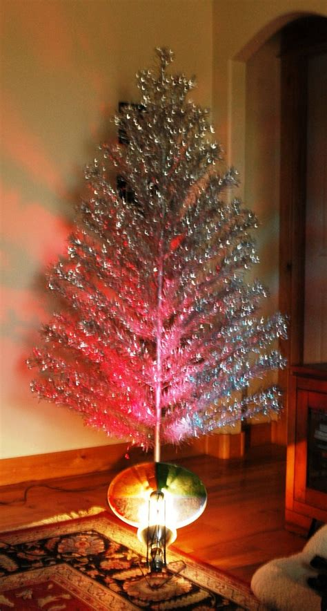 silver forest aluminum christmas tree aluminum tree with color wheel fishwolfeboro