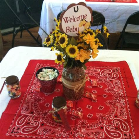 Western Baby Shower by Western Theme Baby Shower Decor Jars Centerpieces And Jars