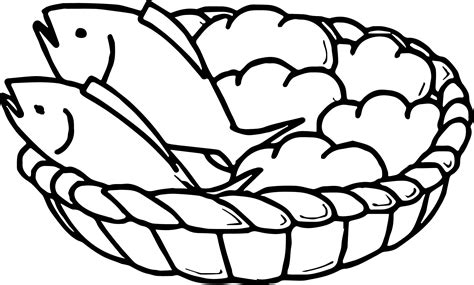 coloring pages of fish and bread 5 loaves bread and 2 fish coloring page wecoloringpage