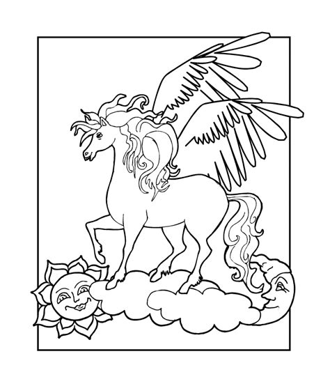 little pegasus coloring coloring pages
