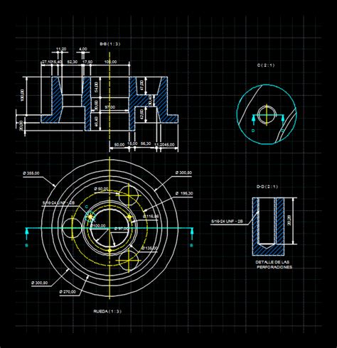 mining cart wheel dwg detail  autocad designs cad