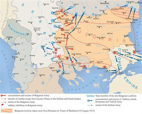 balkans map second balkan war