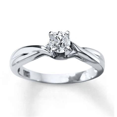 imagenes de anillos de compromiso en oro blanco anillo de compromiso 3 8 carat redondo corte 14k oro