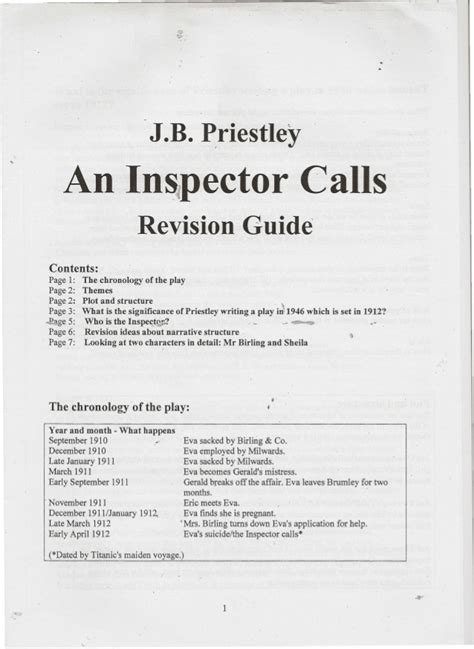 an inspector calls themes slideshare an inspector calls revision guide
