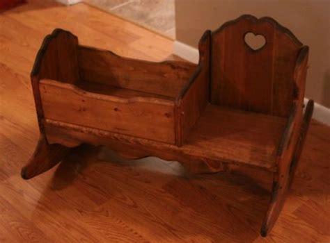 childs wooden rocker rocking chair wbaby doll cradle