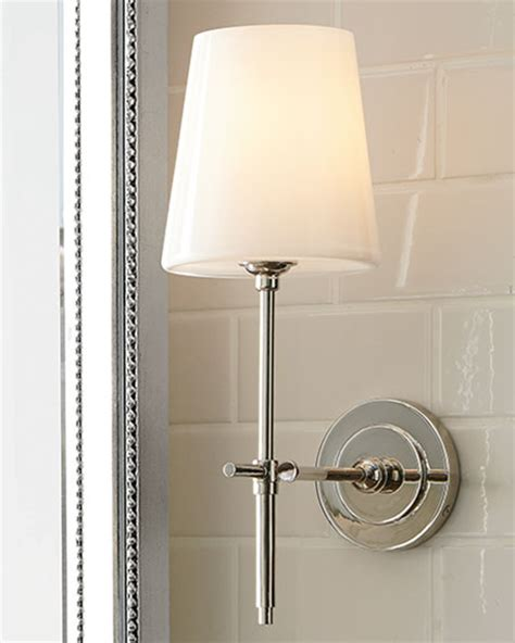 weathered french country bath sconce 2 light shades of visual comfort bryant sconce with glass shade neiman marcus