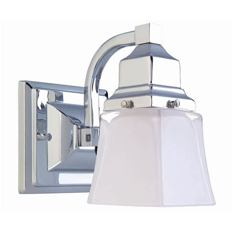 Hton Bay Bathroom Lighting Hton Bay 1 Light Chrome Bath Light 05658 The Home Depot