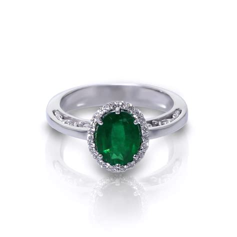 oval emerald halo ring jewelry designs