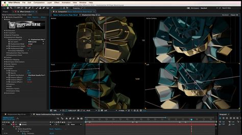 tutorial after effect video tutorial audioreactive 3d shape morphing in after effects