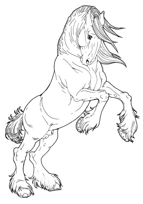 coloring pages of clydesdale horses clydesdale stallion by applehunter on deviantart