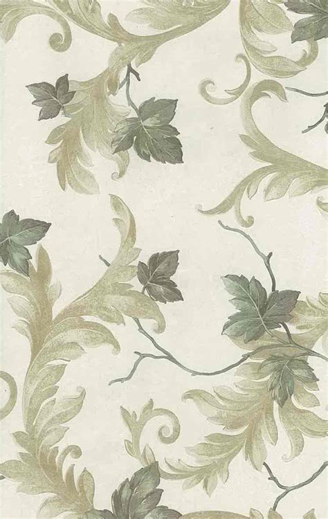 vintage green wallpaper uk leaves scrolls vintage wallpaper green yellow glazed uk 43338