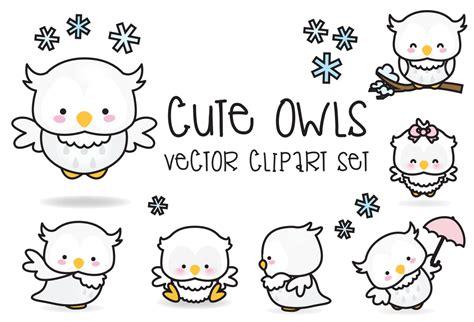 kawaii clipart premium vector clipart kawaii buhos buhos lindos set de