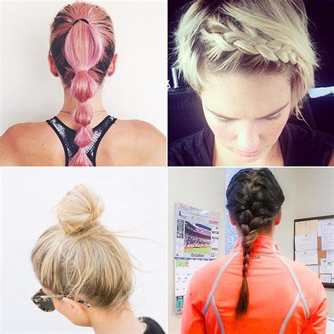 hair styles for runners best hairstyles for your workout popsugar fitness