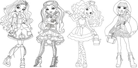 ever after high raven coloring page ever after high coloring pages to download and print for free