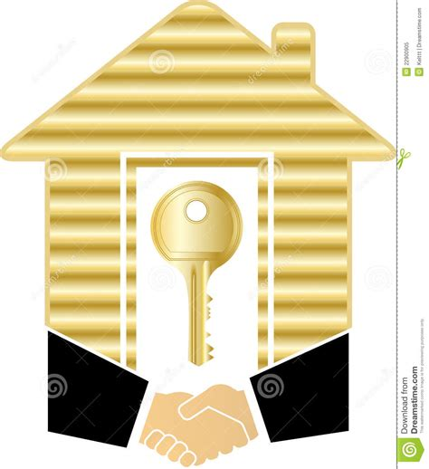 gold house handshake with gold house and key royalty free stock photo image 22900905
