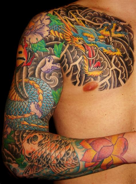 dragon tattoo los angeles dragon and koi sleeve yelp