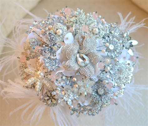 flower wedding brooches sparkly brooches bouquets non floral wedding inspiration weddceremony