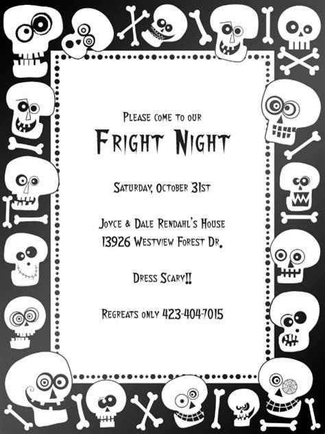 printable halloween invitations black and white quick view mid 314 50432 quot bonehead