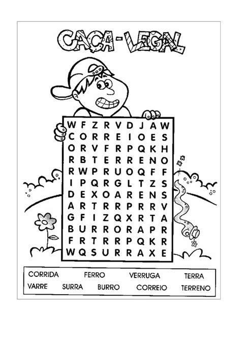 Caça palavras e Cruzadinha para Educação Infantil - Ensino Já