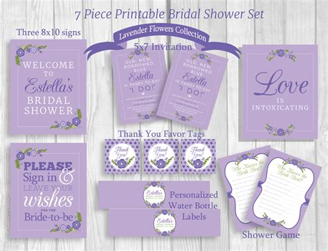 printable bridal shower labels weddings by susan 7 piece printable bridal shower package