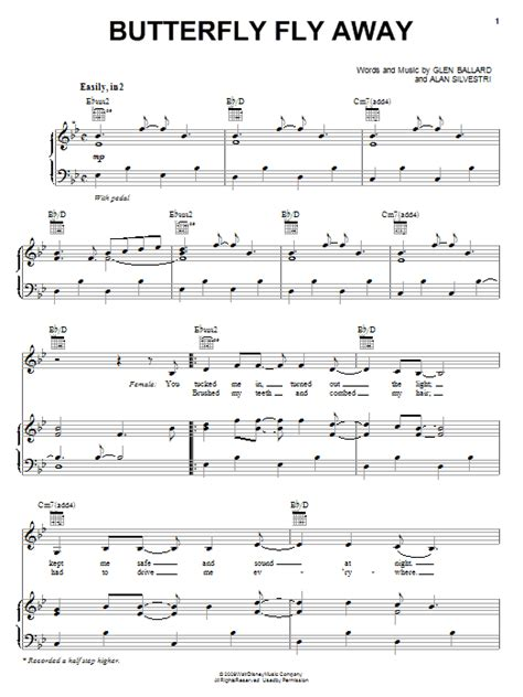 Butterfly Fly Away Guitar Chords