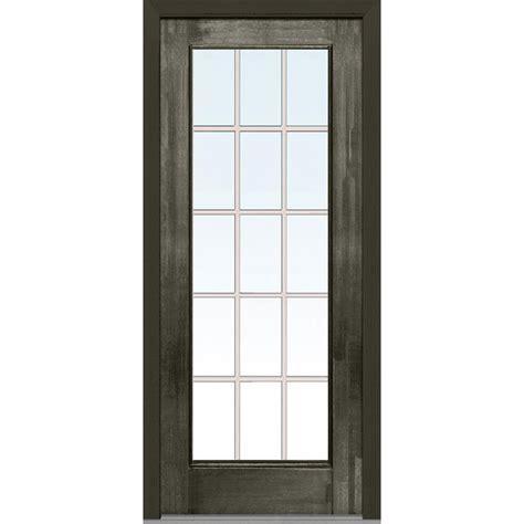 32 Exterior Door With Window Milliken Millwork 32 In X 80 In Grilles Between Glass Left Lite Classic Stained