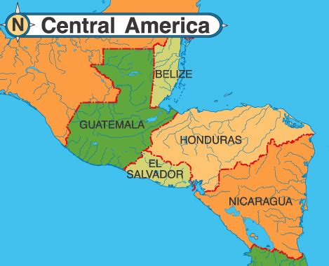map of belize central america america map map pictures