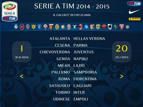 Calendario Serie A Tim 2014 Juventus Il Calendario Della Serie A Tim Tutti I Risultati