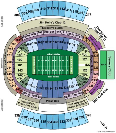 buffalo bills family section ralph wilson stadium events in year