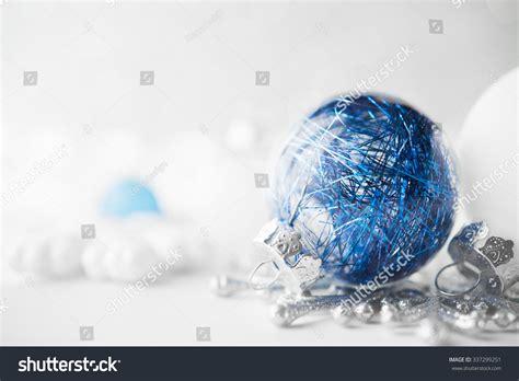 blue and white ornaments blue and white ornaments on glitter