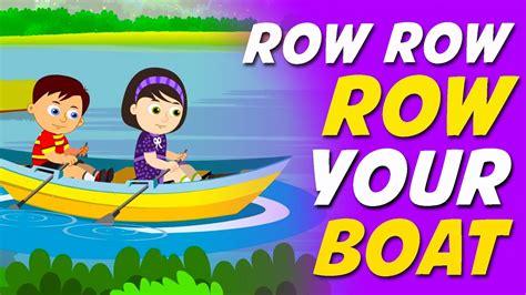 youtube row the boat row row row your boat nursery rhyme youtube
