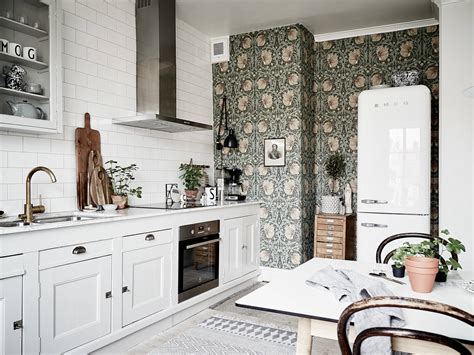 Scandi Style a bright scandinavian apartment with vintage kitchen